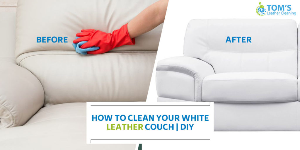 How To Clean White Leather Couch | DIY Clenaing